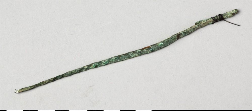 Abb. 9: Sundi Kupferbarren mit umgebogenem Ende. (Veräldskulturmuseet Göteborg Inventar Nr. 1939.06 007)