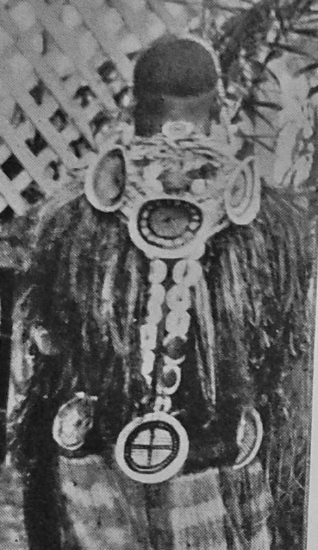 Abb. 8: Abb.7 Roro Mädchen in vollem Schmuck mit koiyu (Foto aus La Vie de Papous, siehe oben)