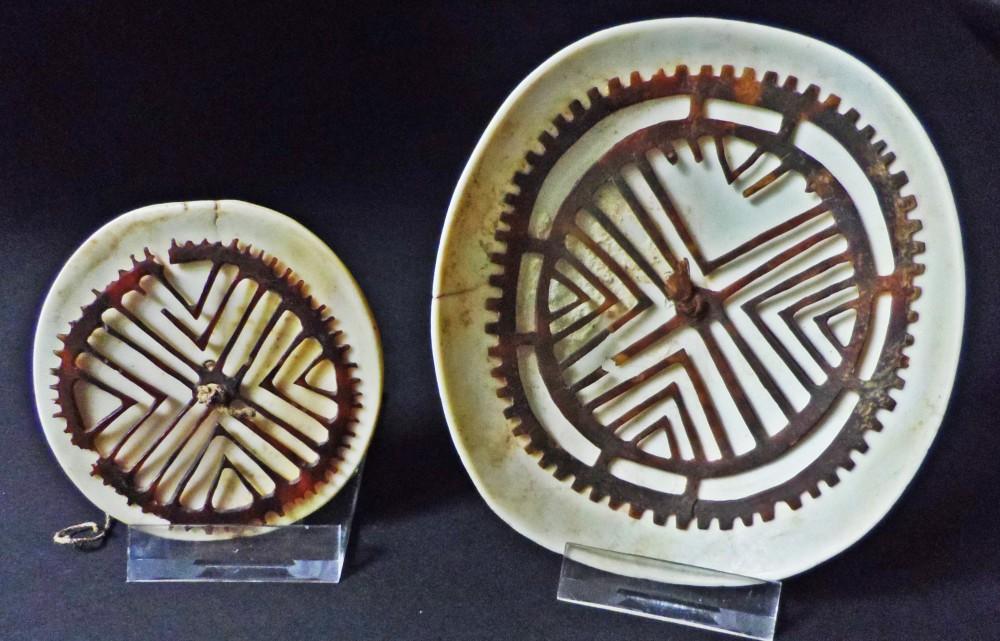 Abb.6: Zwei koiyu - links 6,5 cm Durchmesser; rechts 10,5cm x 9cm