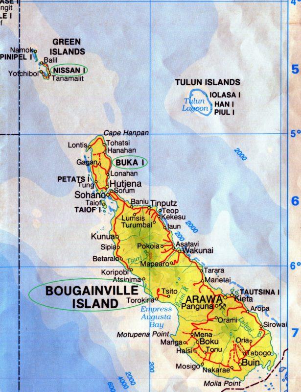 PGS 39,1 (2018) Tafel 3: Karte Papua Neuguinea Buka, Bougainville Nissan