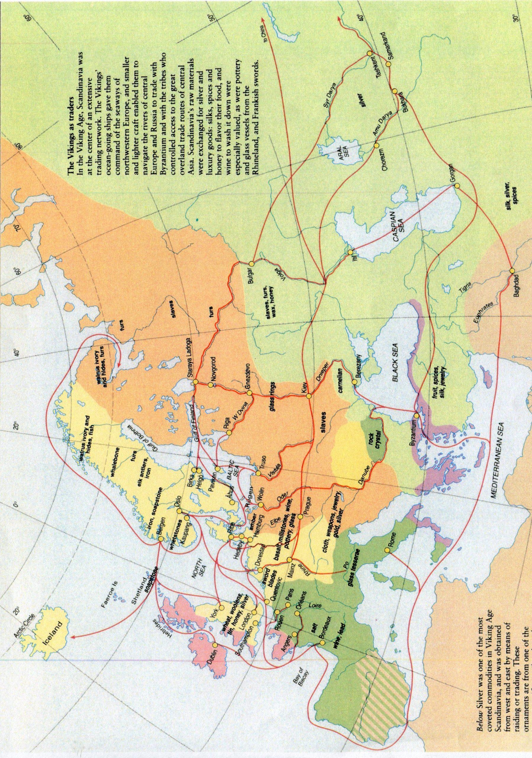 PGS 41,1 (2020) Tafel 10 Karte 4: Handelswege der Wikinger.