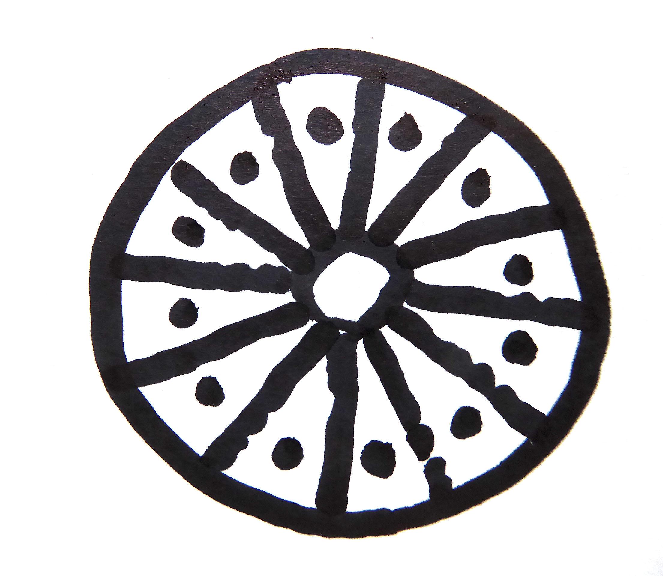 PGS 41,2 (2020) Tafel 28 Abb. 4b: Sonnenrad auch Rad des Vishnu.